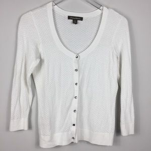 Tommy Bahama white knit cardigan sweater